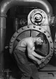 Bedrijfsverhaal: Historische foto van monteur